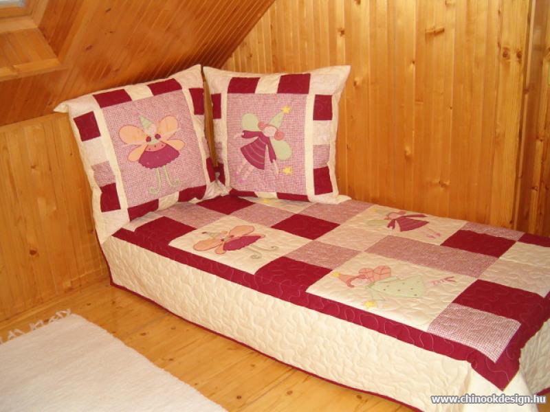 Meggy-vanilia tündéres gyerektakaró. Meggy-vanilia patchwork ágytakaró  tündér applikációkkal. d0294a8e6f